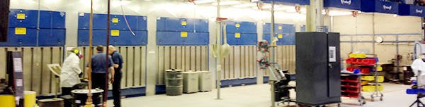 Aerospace dust collection application