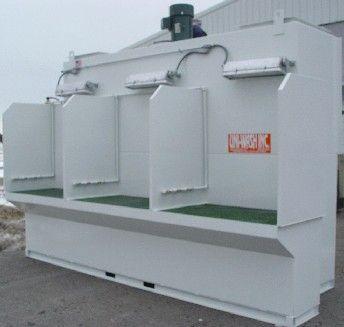 Uni-Wash Wet Downdraft Bench for Aluminum Dust
