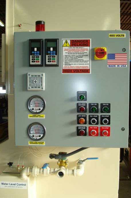 Optional electronic differential pressure water level control with NFPA package and Variable Frequency Drive