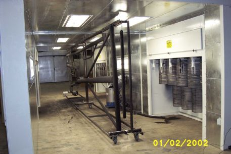 Enviro-Cell Pass-Through Paint Booth