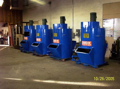(4) UNI-WASH model UC-25s, 2,500 CFM Wet Type Dust Collectors in final production stages