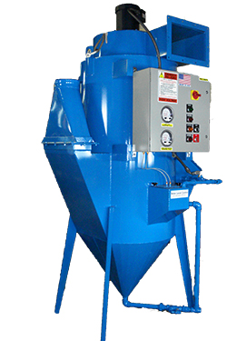 Ducted wet dust collector by ProVent with hopper and legs